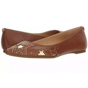 Michael Kors Sia Leather Starry Night Pointed Toe